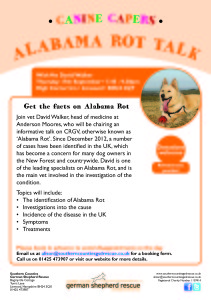Alabama Rot seminar @ The High Corner Inn | Linwood | United Kingdom