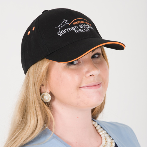 baseball cap black/orange