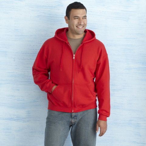 Gents zipped hooded sweatshirt